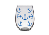 #stickifyvinyl #swfl #plastic #shatterproof #stemlesswineglass #wine #glass #anchor #anchorsaweigh