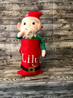 Personalized Elf with Mini Santa Sack