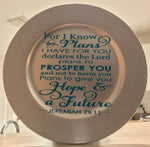 Personalize your decorative plate