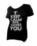"""Keep Calm Jesus Loves You"" Tee Shirt"
