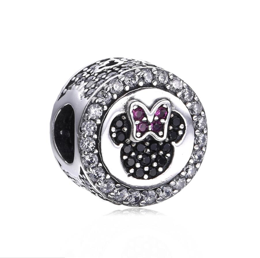 1ab2c18d5 New Real 925 Sterling Silver Minnie Mickey Mouse Charm Bead Fit Original  Pandora Bracelet