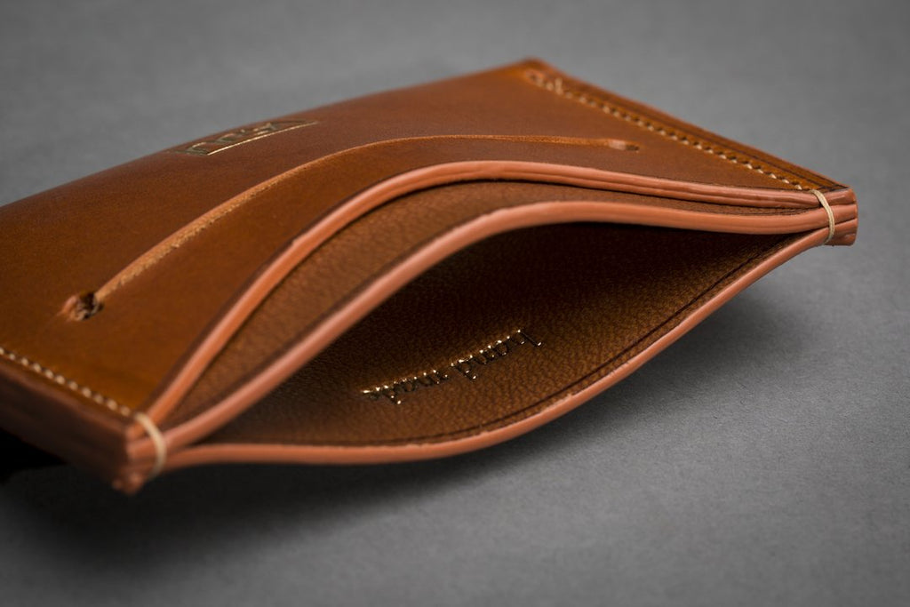 New Handmade Slim Card Leather Wallet: Streamlined Design, Premium Materials