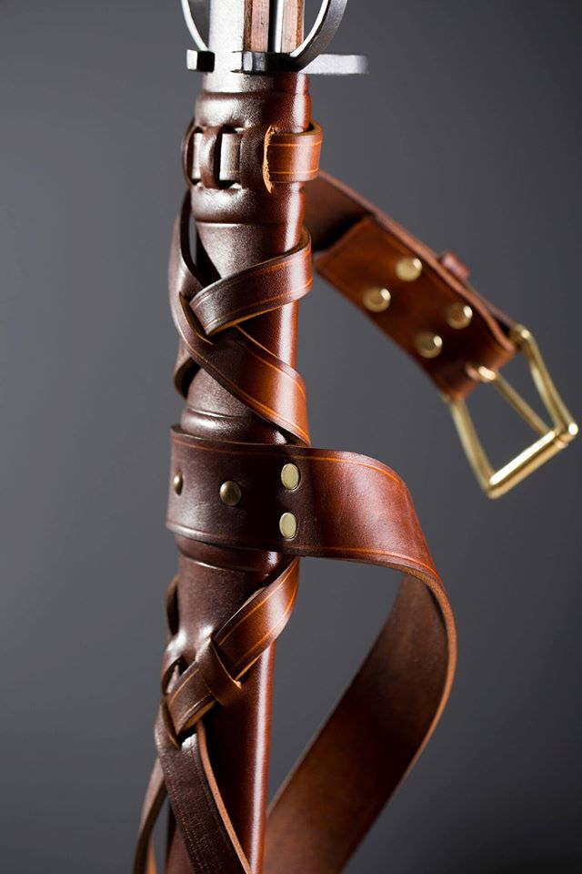 Introducing our new product: One-handed, leather-coated sword scabbard