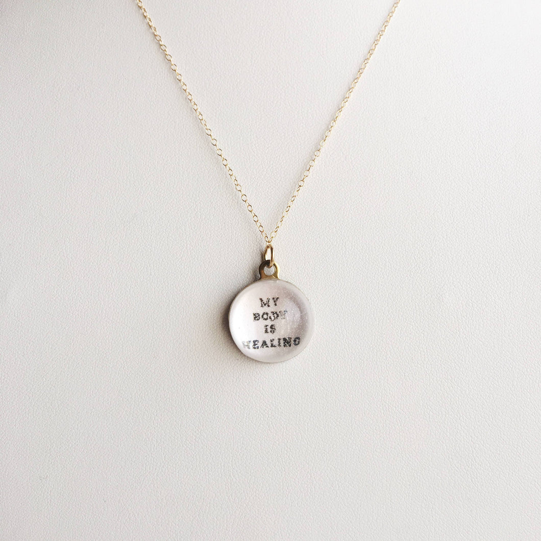 My Body is Healing, Affirmation P.O.M. Candy 14k Gold Filled Necklace - Vera jewelry