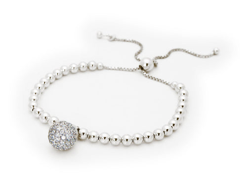 Adjustable Disco Ball Bracelet (Cubic Zirconia) - Vera jewelry