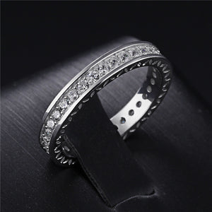 925 Sterling Silver Jewelry Simple Clear CZ Zircon jewelry