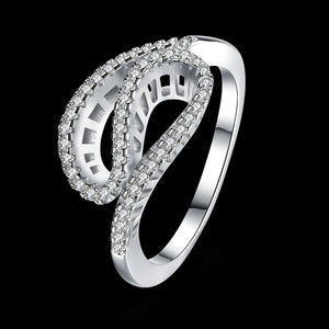 925 Sterling Silver Ring Wholesaler of Silk banded Diamond Ring - Vera jewelry