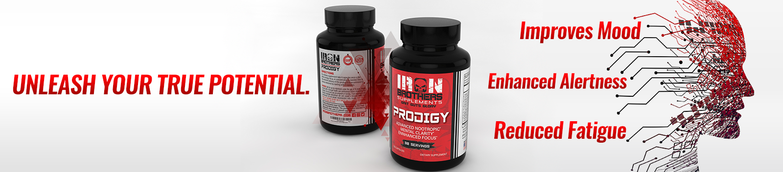 Advanced Nootropic Brain Support Prodigy by Iron Brothers Supplements