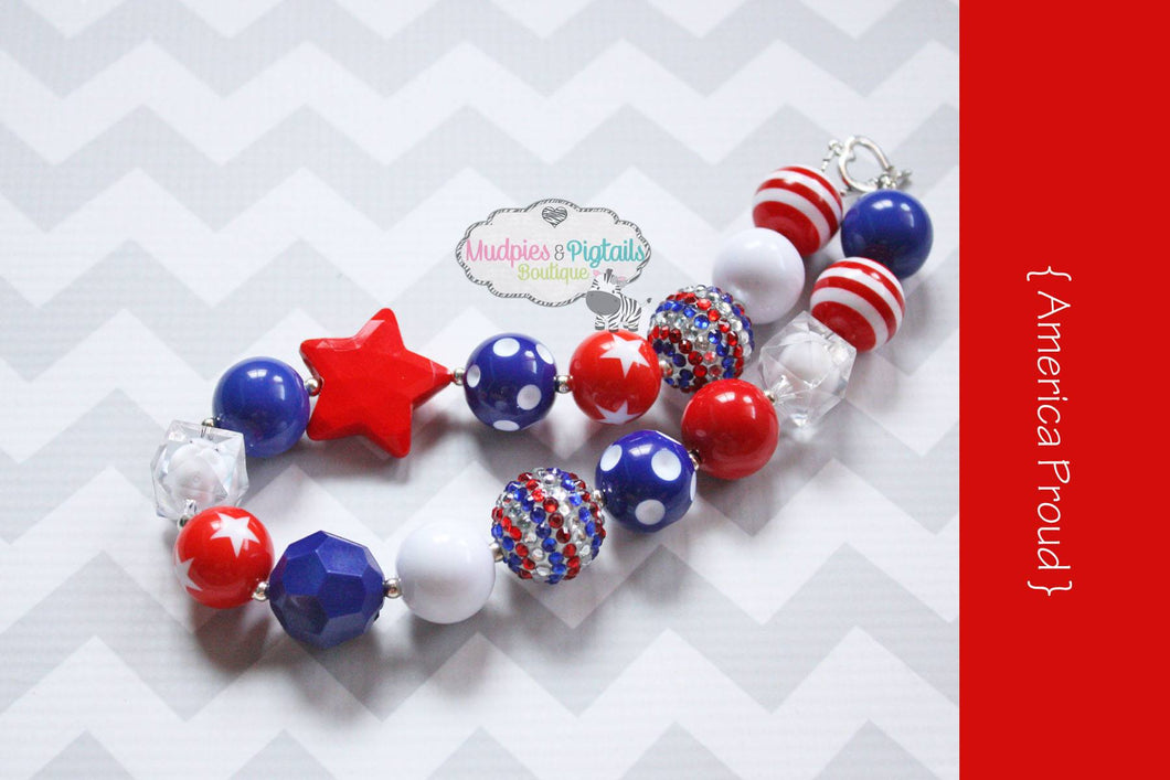 America Proud Necklace