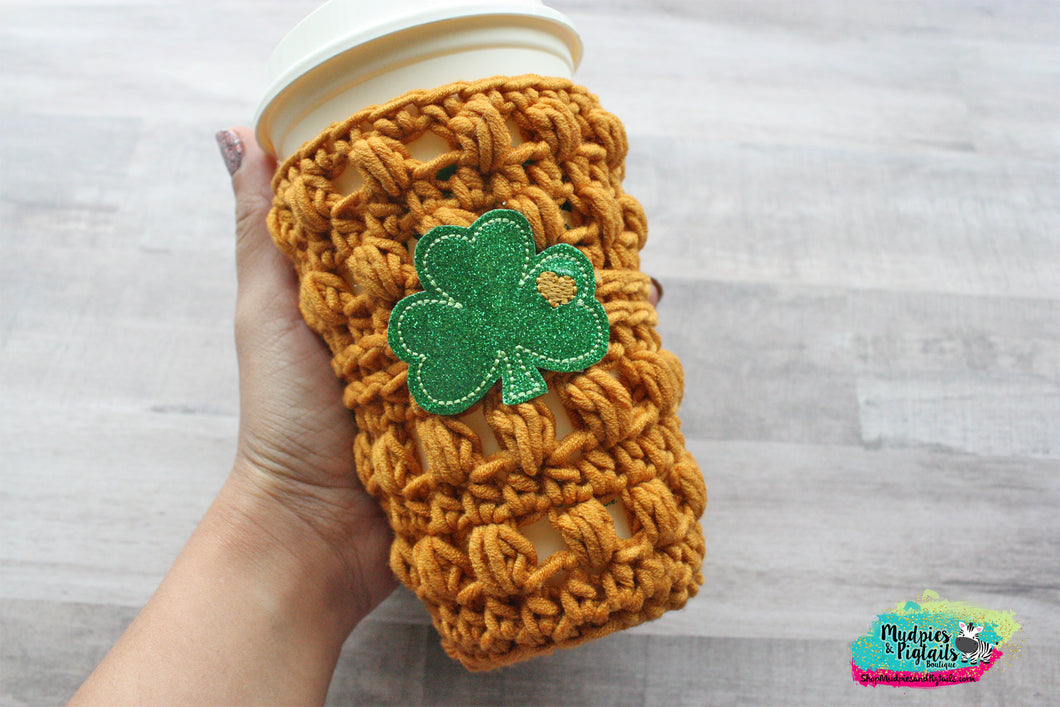 Clover Love St. Patrick's Day Crochet Cup Cozy