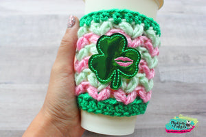 Clover Kisses St. Patrick's Day Crochet Cup Cozy