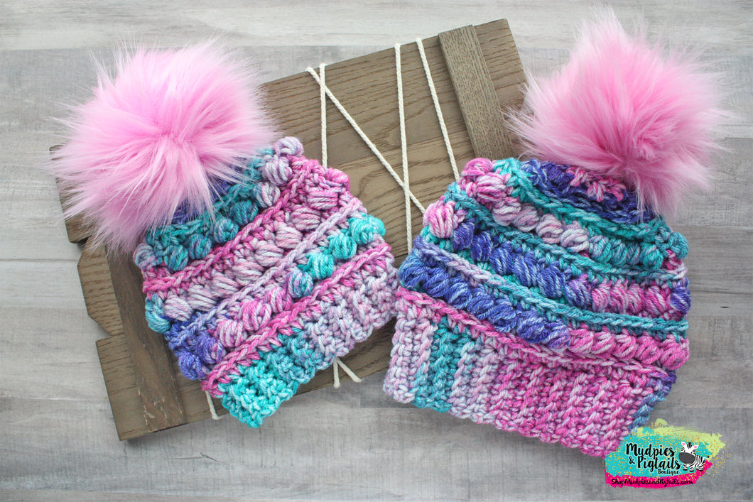 Day Dreamery Crochet Puff Beanie Hat