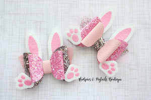 Hop Along Easter Bunny Bow