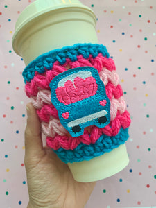 Truck full of Love Valentine's Crochet Cup Cozy