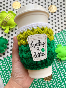 Lucky a Latte Crochet Cup Cozy