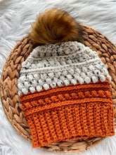 Tweed Colorblock Samone-Adult Crochet Beanie