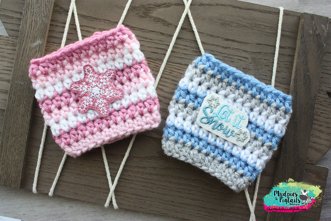 Winter Snowflake Crochet Cup Cozy