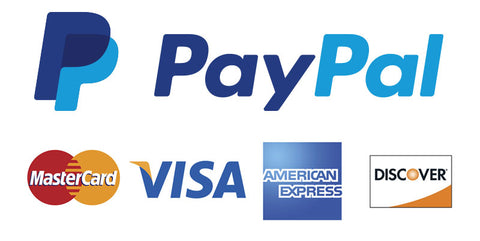 We accept all credits cards and paypal