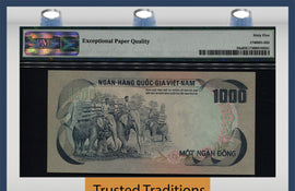 "TT PK 0034a 1972 VIET NAM -SOUTH 1000 DONG ""ELEPHANTS"" PMG 65 EPQ GEM UNCIRCULATED"