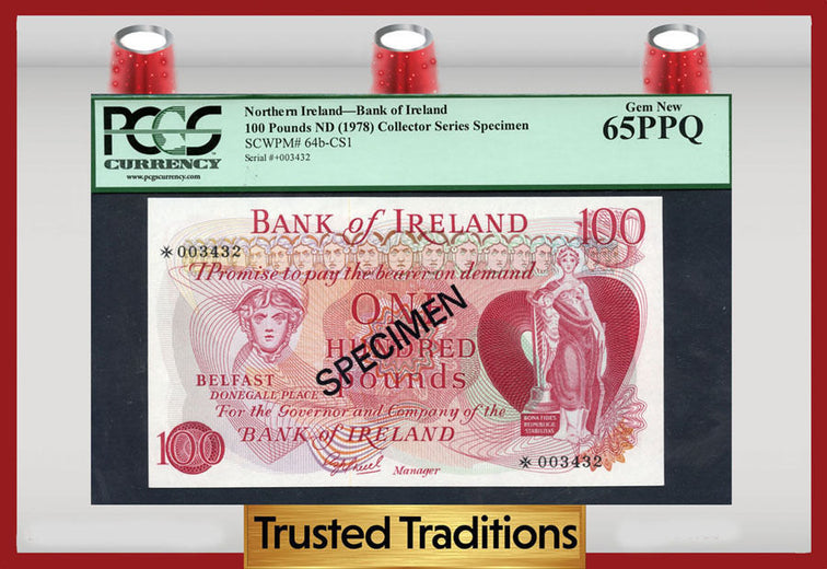 TT PK 0064b-CS1 1978 NORTHERN IRELAND 100 POUNDS