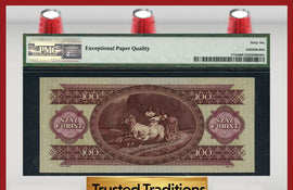 TT PK 0171b 1960 HUNGARY 100 FORINT PMG 66 EPQ GEM POP ONE FINEST KNOWN!