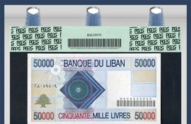 TT PK 0073 1994-95 LEBANON BANQUE DU LIBAN 50000 LIVRES PCGS 67 PPQ SUPERB TOP POP