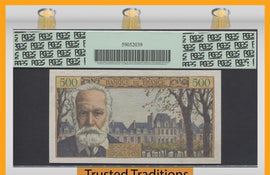 TT PK 0133a 1954-55 FRANCE 500 FRANCS VICTOR HUGO PCGS 66 PPQ GEM NEW NONE FINER