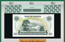 TT PK 0009c ND 1973 UGANDA 100 SHILLINGS PCGS 67 PPQ SUPERB GEM NEW FINEST KNOWN