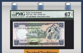 TT PK 0102c 1982 25 POUNDS PMG 67 EPQ SUPERB GEM UNCIRCULATED TOP POPULATION!