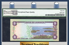 TT PK 0054, 55, 56, 57 JAMAICA SET OF 4 SAME SERIAL # *003616 PMG 66 EPQ GEM UNC.