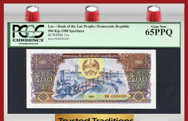 TT PK 0031s 1988 LAO 500 KIP PCGS 65 PPQ GEM NEW ONLY EXAMPLE FOUND ON EBAY!