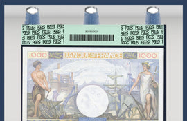 TT PK 0096a 1940 FRANCE 1,000 FRANCS PCGS 67 PPQ SUPERB GEM NEW