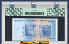 TT PK 0091 2008 ZIMBABWE 100 TRILLION DOLLARS RESERVE BANK PCGS 69 PPQ NONE FINER!