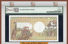 TT PK 0006a 1984 CONGO REPUBLIC 5000 FRANCS PMG 66 EPQ GEM UNCIRCULATED