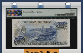 TT PK 0305b 1977-83 ARGENTINA 5000 PESOS PMG 67 EPQ SUPERB GEM UNC FINEST KNOWN