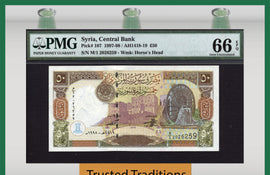 TT PK 0107 1997-98 50 POUNDS PMG 66 EPQ GEM UNCIRCULATED POPULATION 3 NONE FINER!