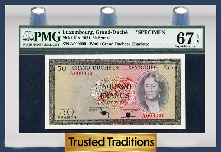 TT PK 0051s 1961 LUXEMBOURG 50 FRANCS