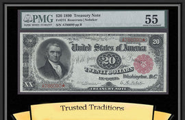 TT FR 0374 1890 $20 TREASURY NOTE ORNATE BACK RARE PMG 55 RED SEAL