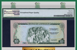 "TT PK 0058 1973 JAMAICA 2 DOLLARS ""COMMEMORATIVE"" PMG 66 EPQ POP 1 FINEST KNOWN"