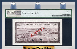 "TT PK 0051s 1961 LUXEMBOURG 50 FRANCS ""SPECIMEN"" PMG 67 EPQ POP ONE FINEST KNOWN!"