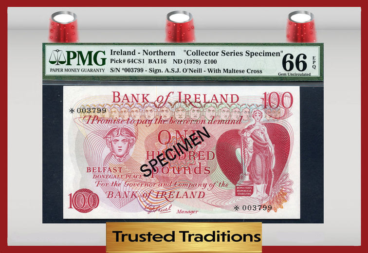 TT PK 0064CS1 1978 NORTHERN IRELAND 100 POUNDS