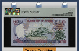 TT PK 44as 2004 UGANDA 5000/- SHILLINGS SPECIMEN PMG 66Q THE ONLY CERTIFIED NOTE