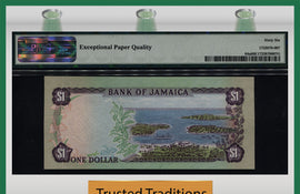 TT PK 0064a 1982-86 JAMAICA 1 DOLLAR PMG 66 EPQ GEM UNC POP TWO NONE FINER!
