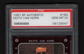 TT 1997 SP AUTHENTIC KEITH VAN HORN PSA #160 GEM MT10 NEW JERSEY NETS TOP TEN!