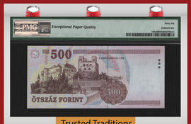 TT PK 0188c 2003 HUNGARY 500 FORINT PMG 66 EPQ GEM UNC. TOP POP ONLY ONE FINER!