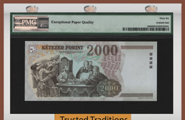 TT PK 0190d 2005 HUNGARY 2000 FORINT PMG 66 EPQ GEM ONLY ONE CERTIFIED BY PMG!