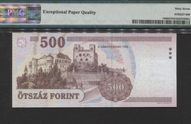 TT PK 0196b 2008 HUNGARY 500 FORINT PMG 67 EPQ SUPERB GEM UNC. NONE FINER!
