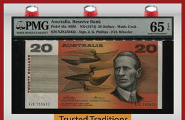 TT PK 0046a 1974 AUSTRALIA 20 DOLLARS PMG 65 EPQ GEM UNC ONLY ONE GRADED FINER