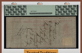 "TT 1865 PENNSYLVANIA MINING CO. $60 CHECK ""WHAT THE SAM HILL"" PCGS 30 VERY FINE!"