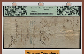 "TT 1864 PENNSYLVANIA MINING CO. $82 CHECK ""WHAT THE SAM HILL"" PCGS 30 VERY FINE!"